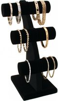 "FindingKing Velvet 3 Tier T-Bar Bracelet Jewelry Display 11"""