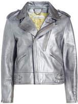 Golden Goose Deluxe Brand Metallic Leather Biker Jacket