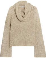 Elizabeth and James Sophie Draped Linen-blend Bouclé Sweater