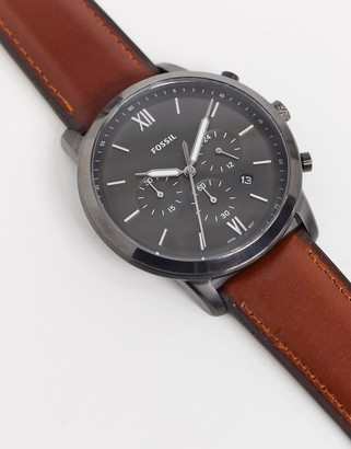 Fossil FS5512 Neutra Chrono leather watch in brown