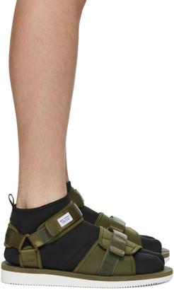 Suicoke Green maharishi Edition Kuno Flat Sock Sandals