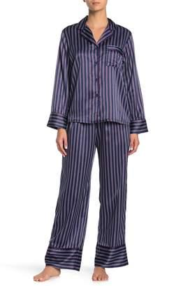 Stripe Satin 2-Piece Pajama Set