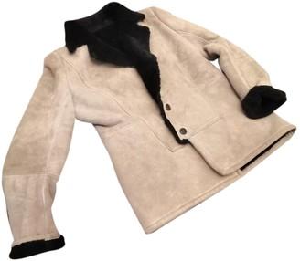 Loewe Beige Shearling Coat for Women Vintage