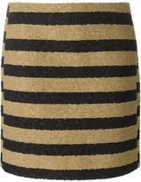 Sonia Rykiel striped loop knit skirt - women - Silk/Cotton/Polyamide/Viscose - 38