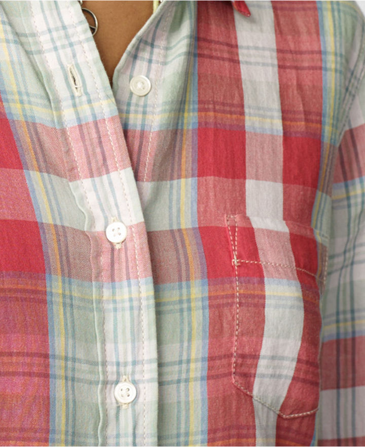 Denim & Supply Ralph Lauren Plaid Twill Boyfriend Shirt