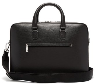Paul Smith Logo-embossed Leather Briefcase - Black