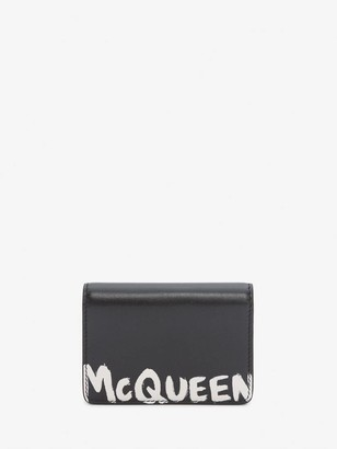 Alexander McQueen McQueen Graffiti Business Card Holder