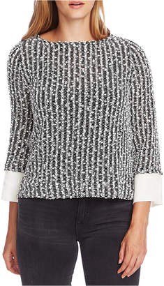 Vince Camuto Textured Layered-Look Top