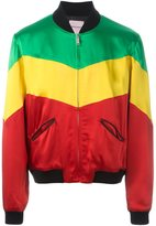 Palm Angels rastafari colour block bomber jacket