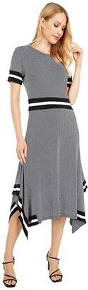 MICHAEL Michael Kors Houndstooth T-Shirt Dress (Black/White) Women's Dress