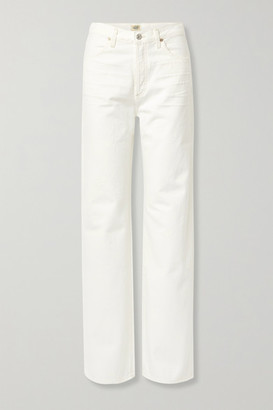 Citizens of Humanity Net Sustain Annina High-rise Wide-leg Jeans - White