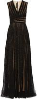 Elie Saab Embellished Tulle Gown - Black