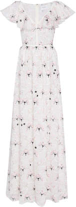 Giambattista Valli Floral-Embroidered Lace Maxi Dress