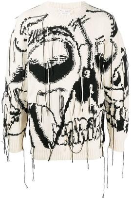 Alexander McQueen Exploded Skull intarsia jumper