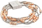 "Kenneth Cole New York Textured Metals"" Geometric Bead Multi-Row Bracelet"