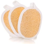 Exfoliating Facial Sponge Skin Care Set of 3 Exfoliating Loofah Pads - 100% Natural Loofah - Enhance Your Skin Care - Tones, Exfoliates and Creates a Radiant, Clear & Smooth Complexion.