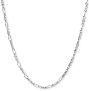 "Carolyn Pollack Figaro Link 24"" Chain Necklace in Sterling Silver"