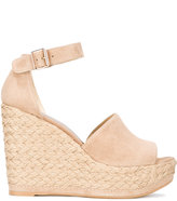 Stuart Weitzman wedge sandals - women - Leather/rubber - 35