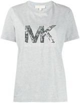 MICHAEL Michael Kors metallic sequin-logo T-shirt