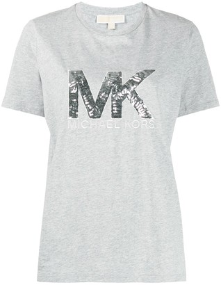 MICHAEL Michael Kors metallic sequin-logo T-shirt