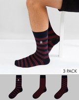 French Connection 3 Pack Socks Dot Print