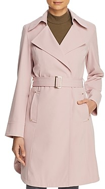 Vince Camuto Belted Crepe Trench Coat