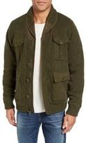 Schott NYC Men's Military Sherpa-Lined Sweater Jacket