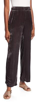Johnny Was Ravi Wide-Leg Velvet Pants