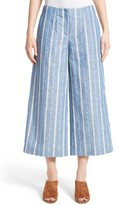 Lafayette 148 New York Women's Kenmare Stripe Crop Flare Pants