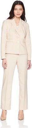 Le Suit LeSuit Women's Petite END 2 Bttn Peak Lapel Pant Suit