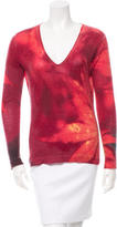Roberto Cavalli Printed V-Neck Sweater