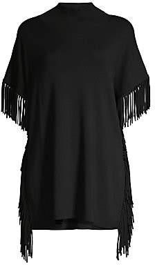 Elie Tahari Women's Cyrus Merino Wool Fringe Sweater
