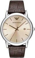 Emporio Armani Dress Leather Strap Watch