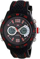 U.S. Polo Assn. Sport Men's US9488 Analog-Digital Display Black Watch with Two-Tone Band