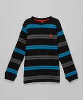 U.S. Polo Assn. Black Stripe Tee - Boys