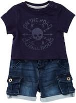 Hudson Skull Shirt & Cargo Shorts Set (Baby Boys)