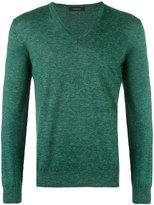 Ermenegildo Zegna v-neck jumper - men - Silk/Linen/Flax/Cashmere - 48