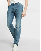 Express slim light wash stretch jeans