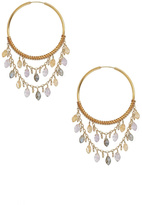 Chan Luu Gemstone Hoop Earrings