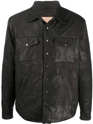 Giorgio Brato Shirt Leather Jacket