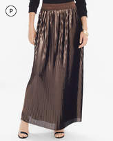 Chico's Pleated Metallic Maxi Skirt