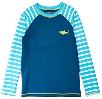 Hatley Great White Sharks Long Sleeve Rashguard (Toddler/Little Kids/Big Kids) (Blue) Boy's Swimwear