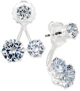 INC International Concepts Silver-Tone Crystal Double-Stud Earring Jacket Earrings, Only at Macy's