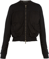 Haider Ackermann Perth cropped cotton bomber jacket