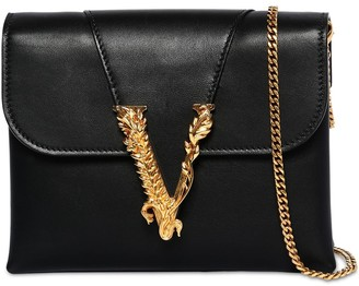 Versace VIRTUS SMOOTH LEATHER WALLET CHAIN BAG