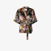 Erdem Zeta floral velvet kimono jacket