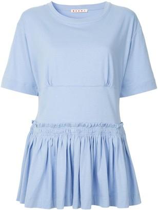 Marni dropped waist peplum blouse