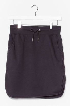 Nasty Gal Womens casual loopback mini skirt - Black - L