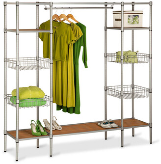 Honey-Can-Do Freestanding Closet With Basket Shelves