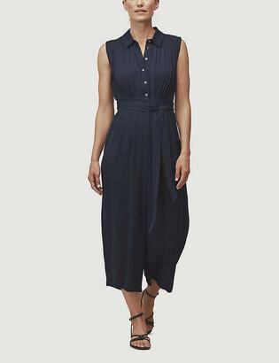 Zara sleeveless crepe jumpsuit